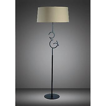 Argi Vloerlamp 4 Lampen E27 met Taupe Geoxideerde bruine dagschaduw