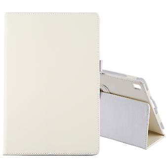 Litchi Texture Horizontal Flip Leather Case for Galaxy Tab S5e 10.5 T720 / T725, with Holder(White)