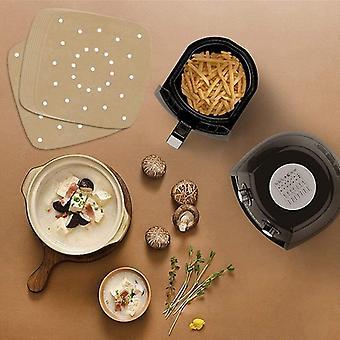 Air Fryer Pad Square Air Fryer Pads/steamer Carta/silicone Carta (marrone)