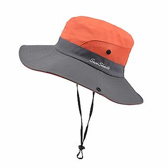 Unisex Summer Foldable Sun Hat, Wide Brim Casual Travel Beach Sunscreen Uv