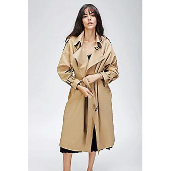 Autumn- Casual Trench, Double Breasted, Outwear Loose Coat