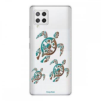 Scafo per Samsung Galaxy A42 5g Silicone Soft 1 Mm, Famiglia Tartarughe