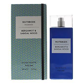 Notebook Bergamot & Sandalwood Eau de Toilette 100ml Spray