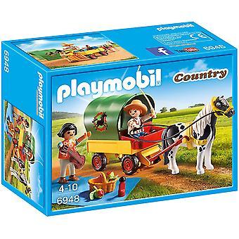 Playmobil Land Picnic med Pony Wagon
