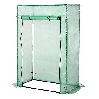 Outsunny 100 x 50 x 150cm Greenhouse Steel Frame PE Cover with Roll-up Door Outdoor for Backyard, Balcony, Garden