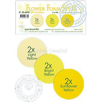 Leane Creatief Flower Foam A4 Set 12 Yellow