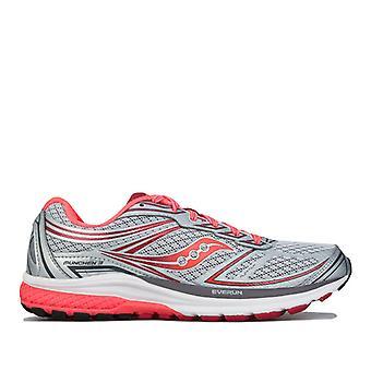 Women's Saucony Munchen 3 Running Shoes in Grey