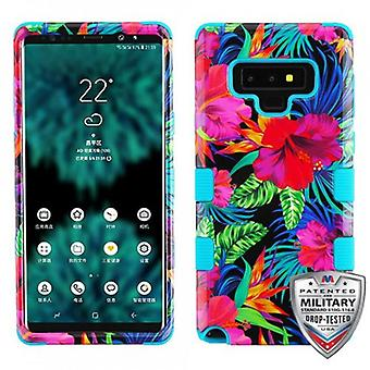 MYBAT TUFF HYBRID PROTECTOR CASE FOR GALAXY NOTE 9 - ELECTRIC HIBISCUS/TROPICAL TEAL