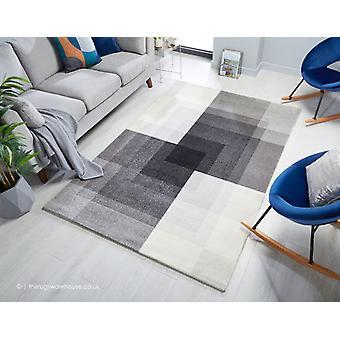 Plaza Abstrakt grå matta