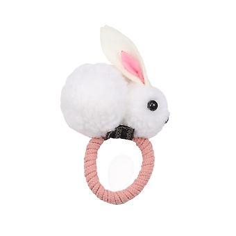 Cute Ball Rabbit, Hair-ring, Tie-rope Elastic Rubber, Hair Bands