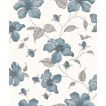 Magnolia Teal Wallpaper