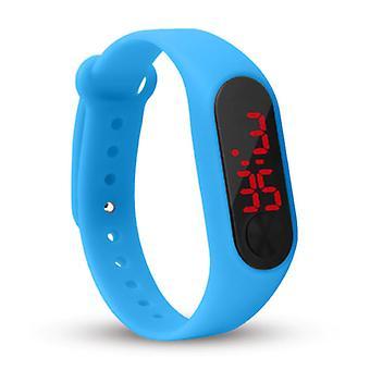 Sailwind Digital Watch Ranneke - Silikonihihna LED Screen Sport Fitness - Sininen
