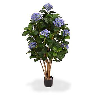 Keinotekoinen Hortensia takakontissa 110 cm sininen