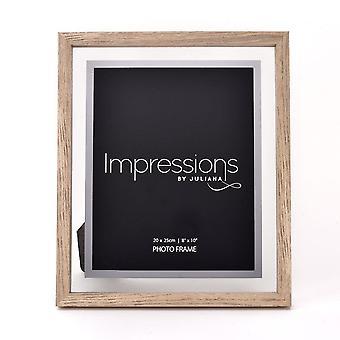 Impressions By Juliana Oak Finish Wooden Frame Perspex Border 8 X 10