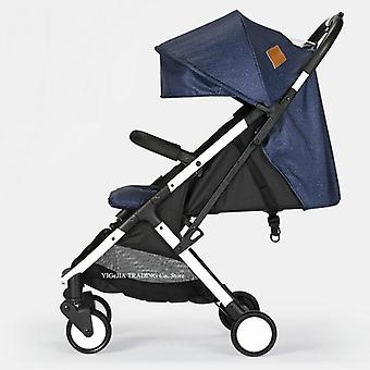 Portable Folding Baby Stroller With Removable Armrest & Reclining Seat