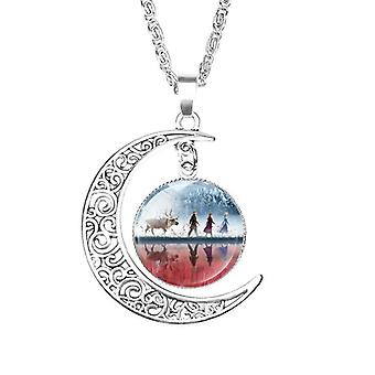 Long Chain Jewelry Necklace Crystal Cabochon Queen Pendant Necklace For Toy