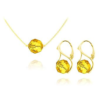 Hafif topaz 24k altın mücevher seti