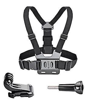 justerbar brystmontering, sele stropp belte for Gopro, hd helten, sport kamera