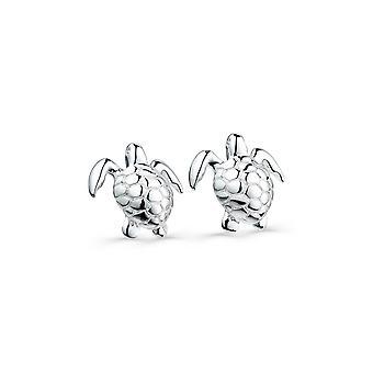 Sterling Silver Stud Earrings - Origins Textured Turtle