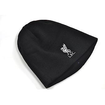 Liverpool gestrickte Masse Wappen Mütze Hut schwarz