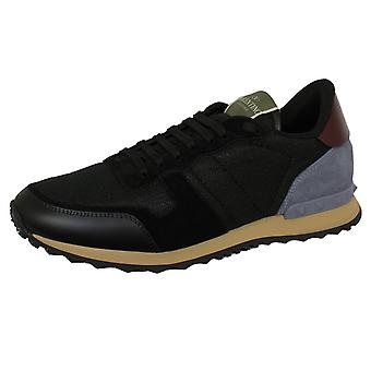 Valentino men's black rockrunner trainers