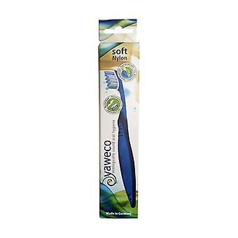 Soft nylon toothbrush 1 unit