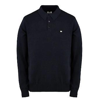 Weekend Offender Yacuiba Knitwear Polo - Navy