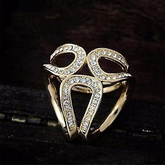 Luxury Scarf Buckle Wedding Hoop Brooch Pins Crystal Holder