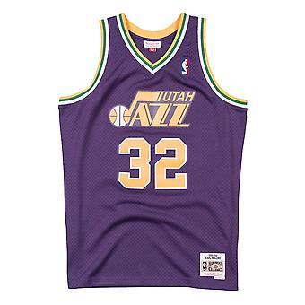 Mitchell & Ness Nba Karl Malone Utah Jazz Swingman Jersey SMJYCP18005UJAPURP91KMA koripallo koko vuoden miesten t-paita