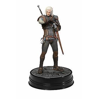 The Witcher 3: Wild Hunt Figur Heart of Stone Geralt i PVC, af Dark Horse, i gaveindpakning.