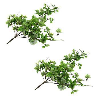 vidaXL الاصطناعي يترك العنب 2 pcs. الأخضر 90 سم