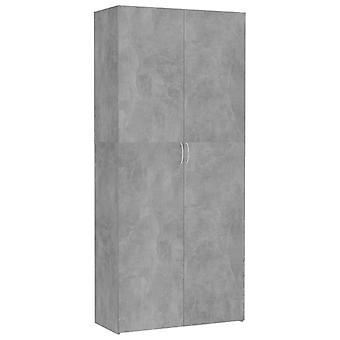 vidaXL armoire de stockage en béton gris 80 x 35,5 x 180 cm panneau de particules