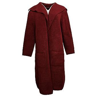 Nina Leonard Women's Sweater Oversized Knit Topper Red 724985