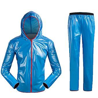 تقسيم دراجة في الهواء الطلق معطف المطر معطف المطر السراويل، والسفر، والتخييم، والمشي لمسافات طويلة مجموعة معطف المطر الكبار