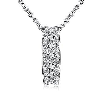 GemShadow Necklace Zircon Pendant and Silver 925 Girl Jewelry with Transparent Diamond Elegant Gift for All Refs. 0645249404563