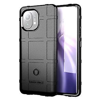 Tpu carbon fibre case for xiaomi 11 black mfkj-1327