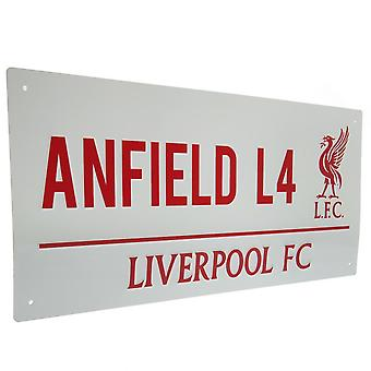 Liverpool FC Anfield Street Sign