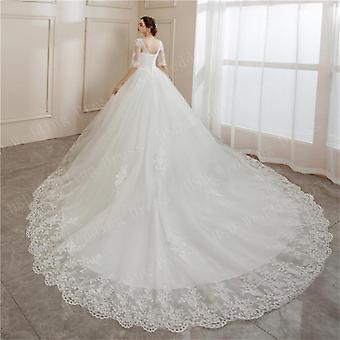 Brides Ball Puvut Pitsi kirjonta Puolihiha