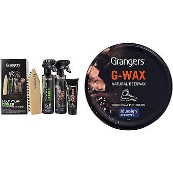 Kit d'entretien de chaussures tout-en-un Grangers + G Wax