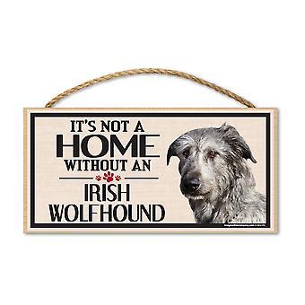 """Знак, дерево, это не дом без ирландского волкодава, 10"""" X 5"""""""
