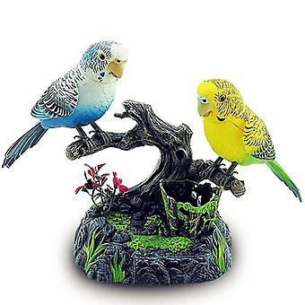 Simüle Ses Kontrol Kuşlar Muhabbet Kuşu Güzel 2 Birim Parrot Electric
