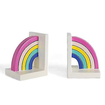 European-style resin rainbow bookends, tabletop decoration bookends(pack of 2) az1778