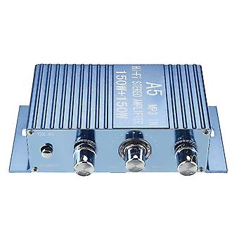 For DX-A5 DC 12V 2.0 Channel Amplifier Speaker Music Player for PC Computer for Car WS32253