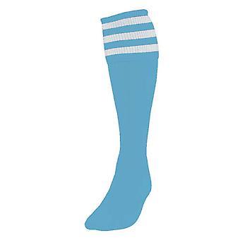 Precision 3 Stripe Fußball Socken Herren Himmel/Weiß
