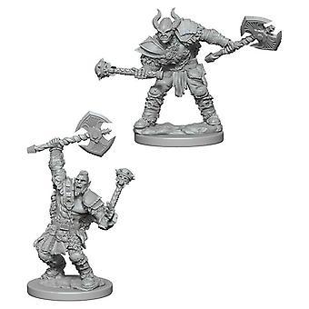 Pathfinder Deep Cuts Tahraamattomia miniatyyrejä (W3) Puoli-Orc mies barbaari