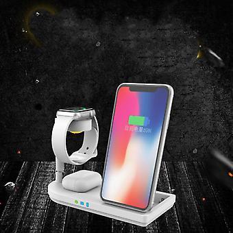 Wielofunkcyjna bezprzewodowa ładowarka telefonu komórkowego inteligentny zegarek zestaw słuchawkowy telefon szybkie ładowanie uchwyt stacji dokującej lampka stołowa