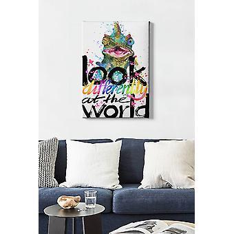 Kanvas Tablo (50 x 70) - 253 dekorativ dukmålning i flera färger