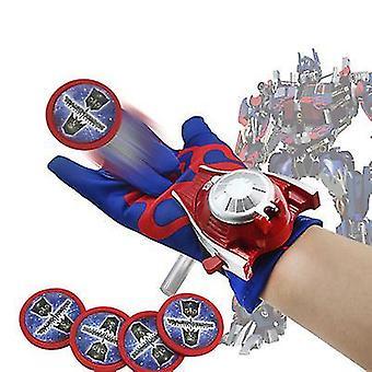 La temporada juguetes niños superhéroes guantes mágicos con lanzador de eyección de muñeca (púrpura)