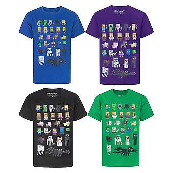 Minecraft Boys T-Shirt | Verschiedene Farben Baumwolle Gamer Top | Kinder Sprites Tee Alter 5-15 Jahre