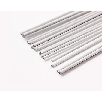 10 White 1.6mm Tape Covered Floristry Stub Wires - 50cm Long